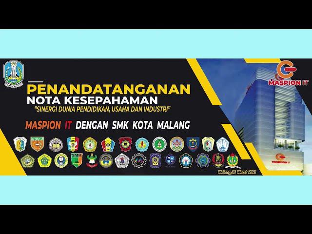 Penandatanganan Nota Kesepahaman (MoU) MASPION IT Dengan  SMK KOTA MALANG di SMKN 6 MALANG
